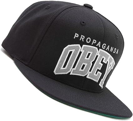 Obey - Gorra con visera plana para hombre, color negro y gris ...