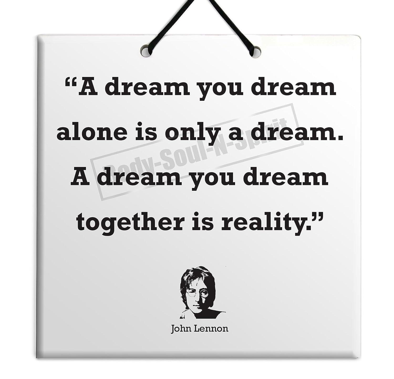 Amazon John Lennon Quote Ceramic Wall Hanging Art Sign 15x15