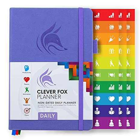 Clever Fox Planner Daily - Best Agenda & Daily Calendar to Boost Productivity, Happiness & Hit Your Goals in 2019 - Gratitude Journal Personal Daily ...