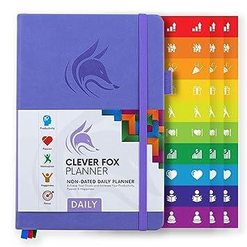 Clever Fox Planificador Diario - Mejor Agenda y Calendario Para Fomentar la Productividad y la Felicidad, y Lograr Tus Metas de 2019 - Organizador ...