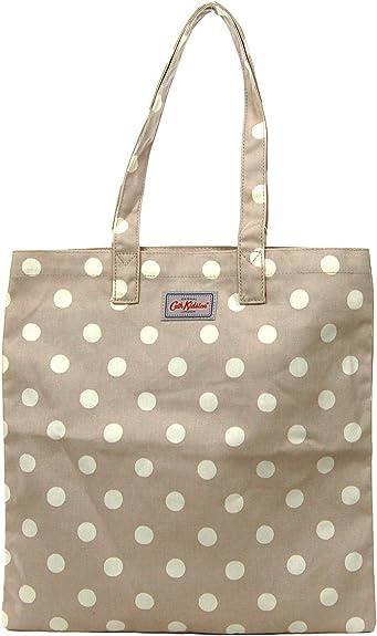 Cath Kidston - Bolsa de algodón para libros, diseño de lunares, color beige: Amazon.es: Zapatos y complementos