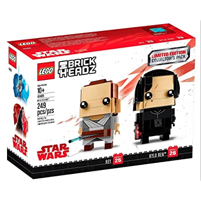 LEGO BrickHeadz Limited Edition Star Wars Rey and Kylo Ren Collectors Pack: Toys & Games