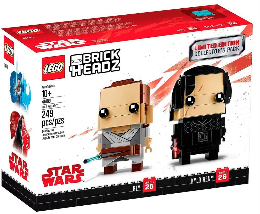 LEGO BrickHeadz Limited Edition Star Wars Rey and Kylo Ren Collectors Pack
