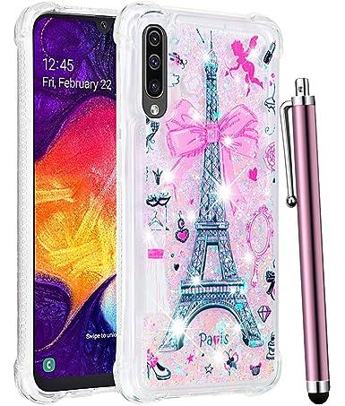Amazon.com: CAIYUNL Funda para Galaxy A50, de lujo, con ...