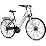 "28"" KCP CITY BIKE ALLOY BICYCLE URBANO WOMEN 24 speed SHIMANO ALIVIO white black - (28 inch)"