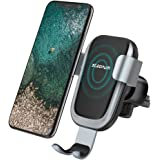 Wireless Car Charger, Steanum QI Gravity Car Mount Air Vent Phone Holder, Fast Charge for Samsung Galaxy S9/S9+ S8 S7/S7 Edge, Note 5, Standard Charge for iPhone X, 8/8 Plus and Qi Enabled Devices