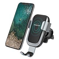 Qi Ladegerät Auto, Steanum Schnell KFZ Halterung Car Air Vent Phone Mount Holder, Drahtlos Induktive kabellos ladestation für iPhone X/ iPhone 8/8Plus, Samsung Note 5,Galaxy S9/S9+/S8/S8+/S7/S6 Edge+