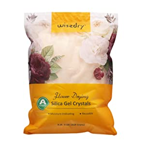 wisedry 8 LBS Silica Gel Flower Drying Crystals, Color Indicating, Reusable