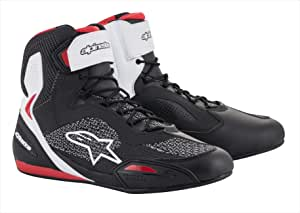 Alpinestars Faster-3 Rideknit Shoes 12, 123-Black//White//Red