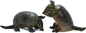 Salt and Pepper Shakers set Black Armadillo ceramic figurine Home decor Unique dinner table Hand Paint more Detail Novelty Gifts, Thank You Gift Ideas for Mom