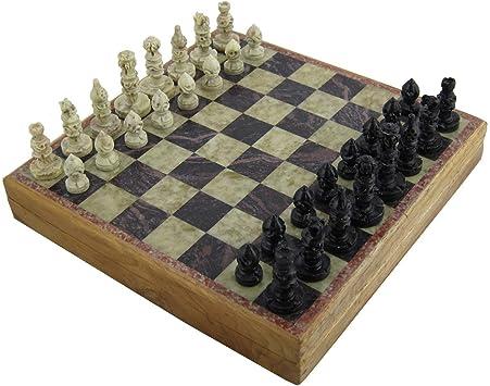 Piezas de ajedrez piedra mármol y juego de mesa Set 20 x 20 cm ...