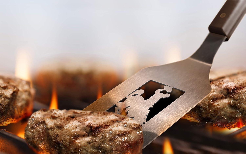 22 x 9 YouTheFan 5022074 NCAA Wyoming Cowboys Spirit Series 3-Piece BBQ Set Stainless Steel