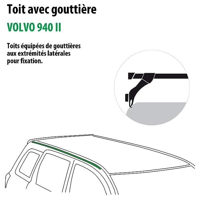 Kit completo Rameder, barras de techo squarebar para Volvo 940 II (115957 - 00197 - 14-fr): Amazon.es: Coche y moto