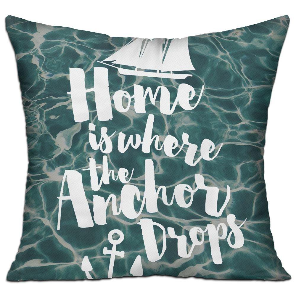 Amazon.com: Casa es donde el ancla gotas moda decorativo ...