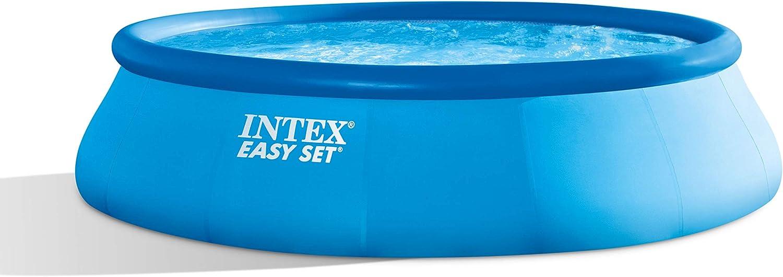 Intex Easy Set Piscina Set, Azul, 396 x 396 x 84 cm, 7, 29 L, 28142 – GN: Amazon.es: Jardín