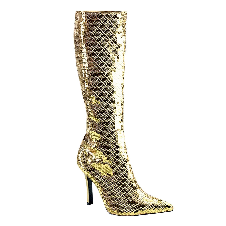 Funtasma Stiefel mit Pailletten, gold, Größe 9 US = 39 EU