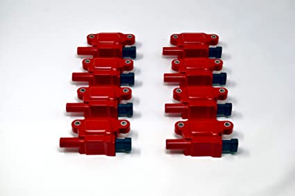 REV Ignition compatible with GM 05-14 Square Style 12611424 High  Performance Ignition Coil Set of 8 RD1007R