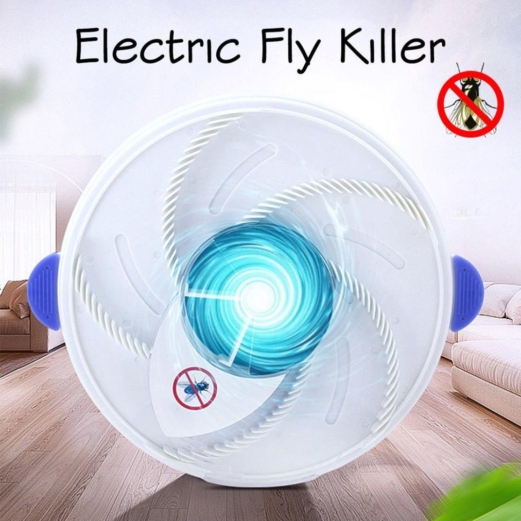 Hechun Electric Fly Insect Trap Indoor Bug Fly Device with Trapping Food Mosquito Killer Pest Control Pest Catcher (White) by Hechun (Image #7)