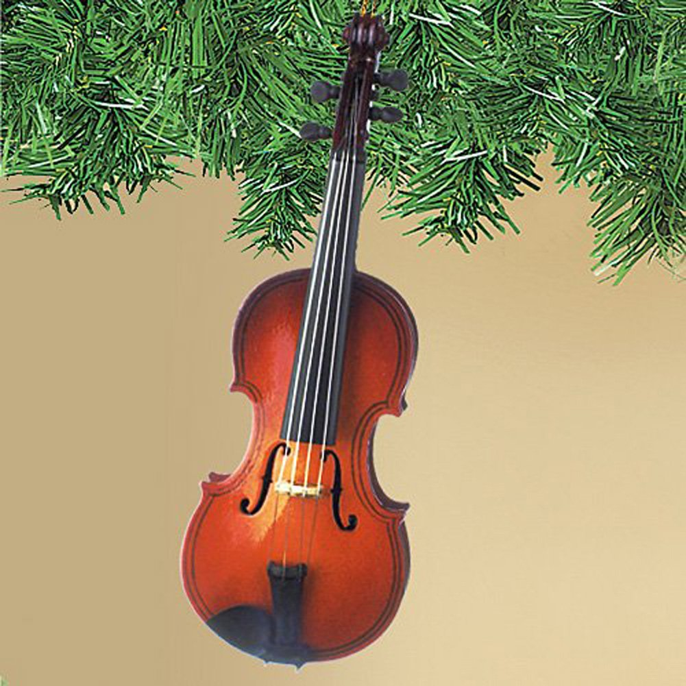 Violin christmas ornaments - Amazon Com Steel String Miniature Violin Hanging Holiday Tree Ornament Home Improvement