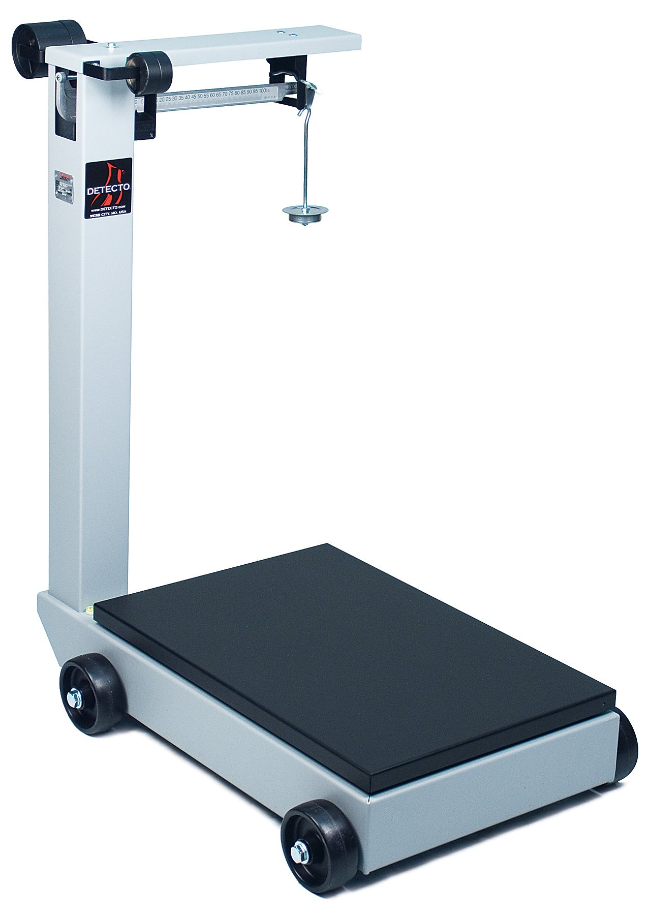 Detecto 854F100PK Portable Mechanical Floor Scales, 1,000 lb. / 500kg Capacity, 19'' x 28''