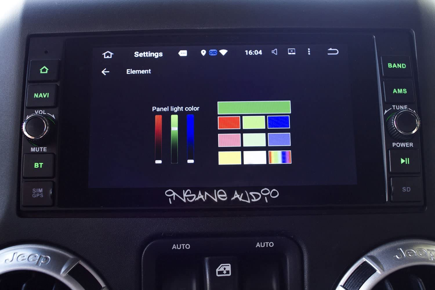 Insane Audio DD2001 Universal Double Din Multimedia Bluetooth in-Dash Receiver with On//Off Road Navigation and Hi-Def Touch Display