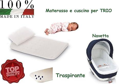 Aziamor - Conjunto de colchón y almohada antiasfixia para cochecito de bebé