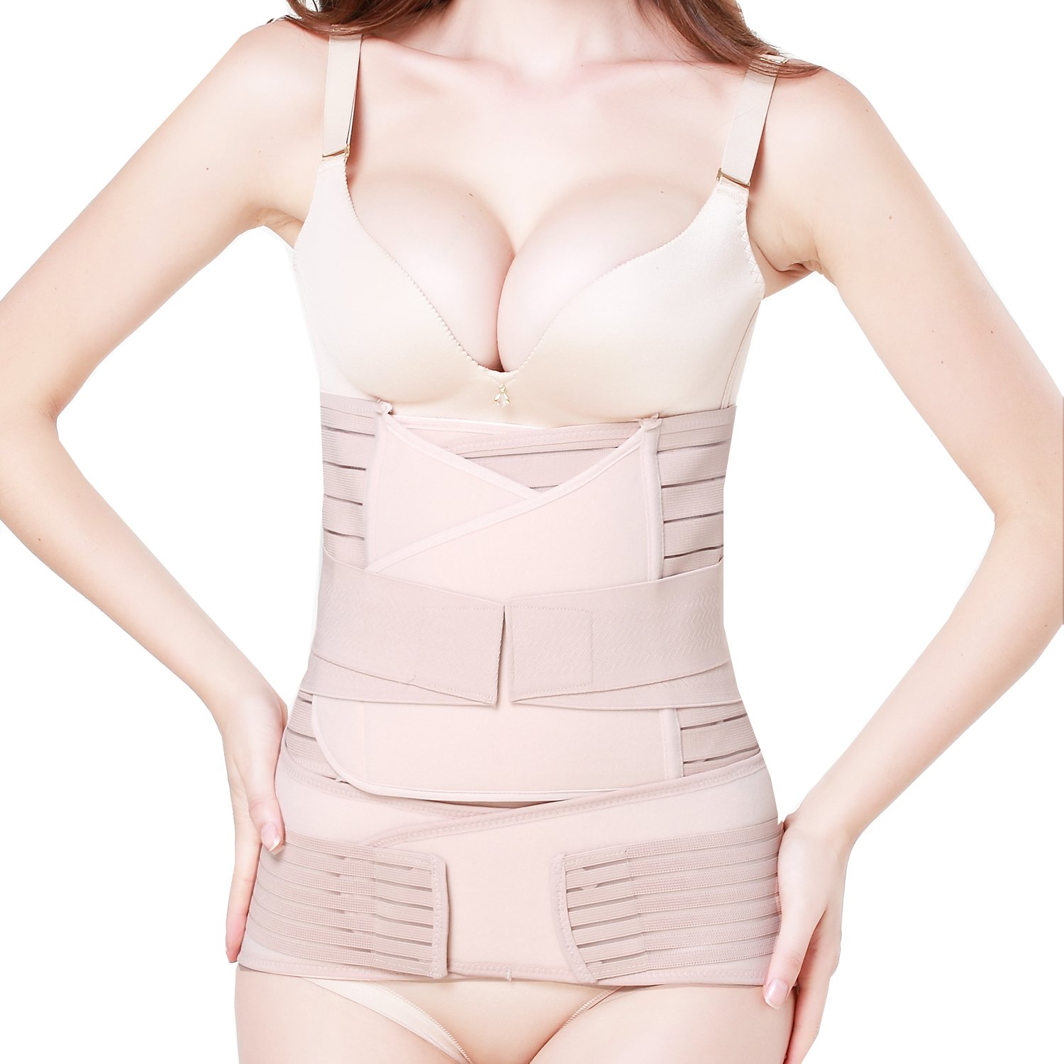e17b0cbb00 TiRain 3 in 1 Postpartum Support - Recovery Belly Waist Pelvis Belt Shapewear  at Amazon Women s Clothing store