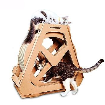 Kaxima Árbol para Gatos Rueda de Ferris Gato rasguño Tablero Corrugado rotación de Nido de Gato con Gato rasguño Junta 73 * 36 * 70 cm: Amazon.es: Productos ...