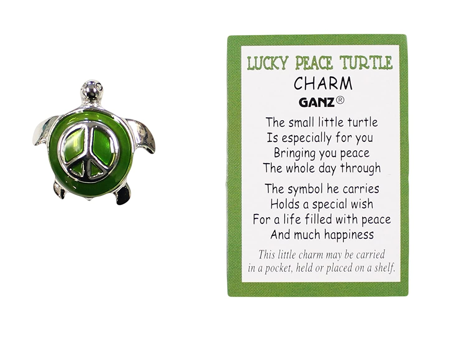 Amazon Peace Turtle Charm With Story Card Emerald Home