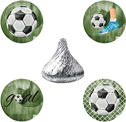 Amazon.com: magjuche fútbol Candy pegatinas, Futbol Boy Baby ...