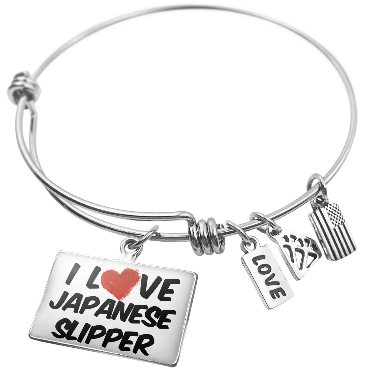 Amazon Expandable Wire Bangle Bracelet I Love Japanese Slipper