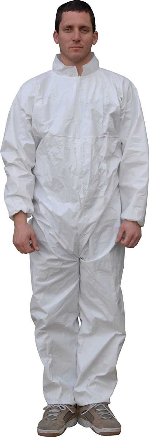 Case of 25 Disposable X-Large Elastic Cuff Majestic Glove 74-101 ComforTEX Microporous Coverall