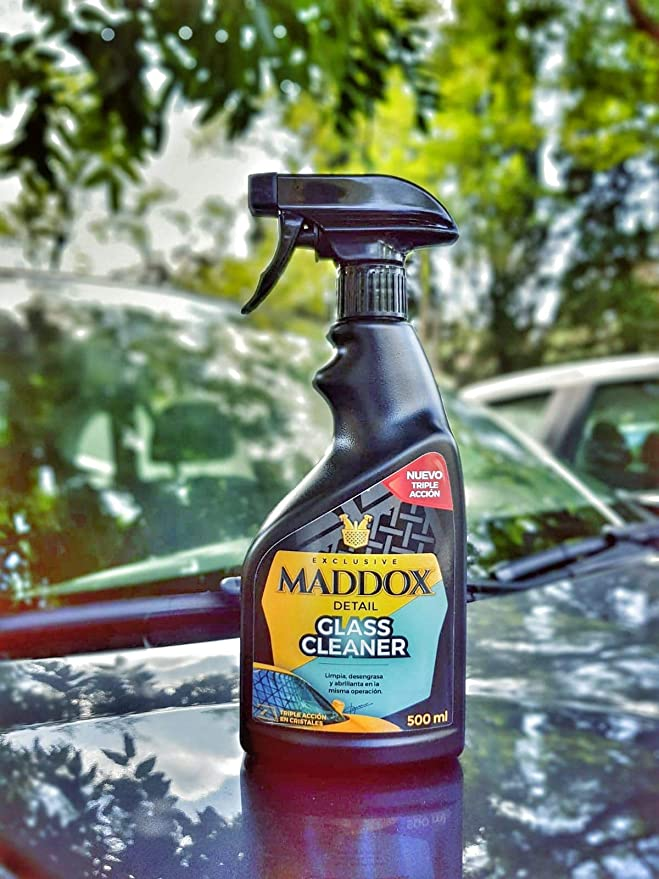 Maddox Detail 20101 Glass Cleaner - Limpiacristales Triple Acción, Limpia, Desengrasa Y Abrillanta, 500 ML: Amazon.es: Coche y moto