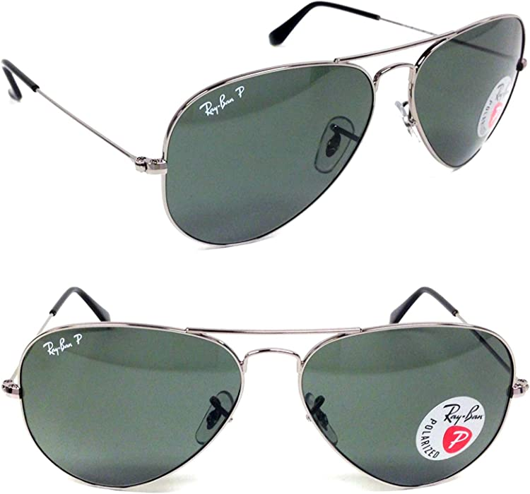 d3bf3151a3acf Polarized Aviator Sunglasses RB 3025 004 58 62mm + SD Glasses + Cleaning  Kit. Back. Double-tap to zoom