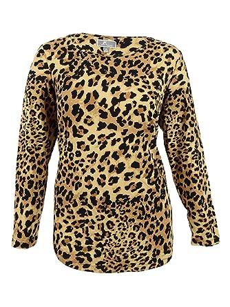 JM Collection Women s Plus Size Printed Top (0X 064d07957