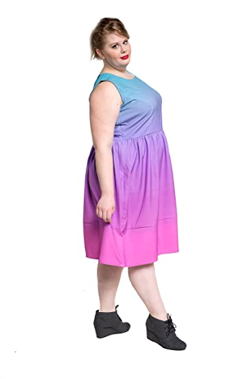 MyWear Custom Plus Size Ombre Fit & Flare Dress at Amazon ...