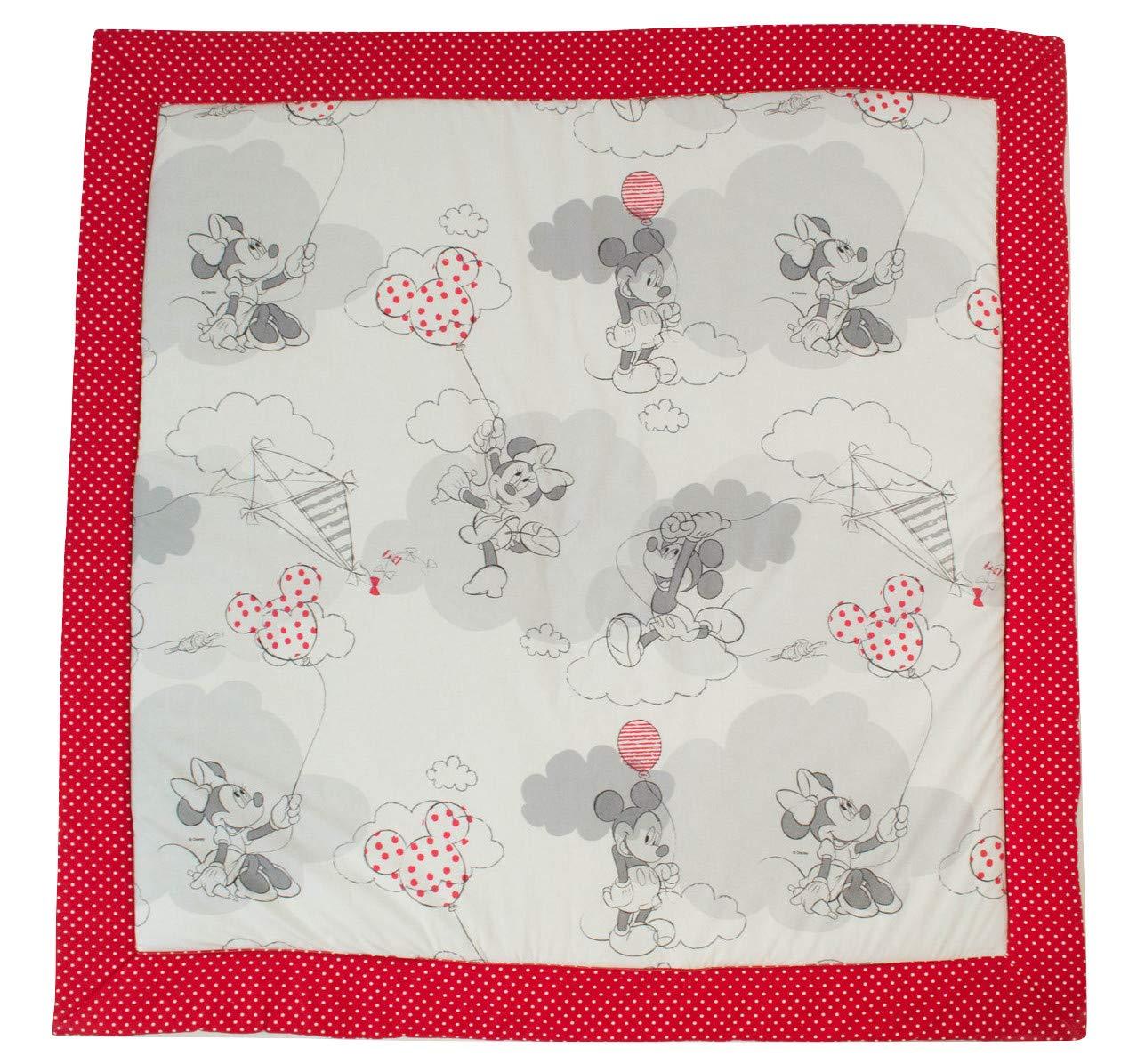 Disney Comet Red 120x120 cm Baby Mats for Floor. Baby Mickey & Minnie Model  Pink (120x120cm)