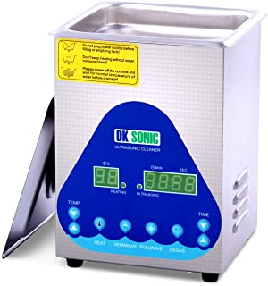 Professional Ultrasonic Cleaner - DK SONIC 2L 60W 28/40KHz Sonic Cleaner with Heater Basket Digital Timer for Jewelry,Ring,Eyeglasses,Denture,Watchband,Coins ,Small Metal Parts,Circuit Board etc