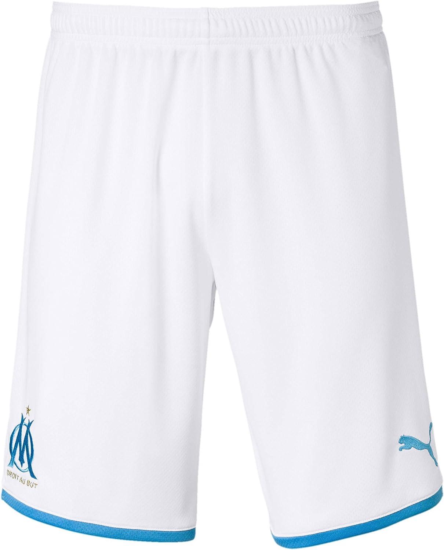 PUMA 2019-2020 Olympique Marseille Home Shorts (White)