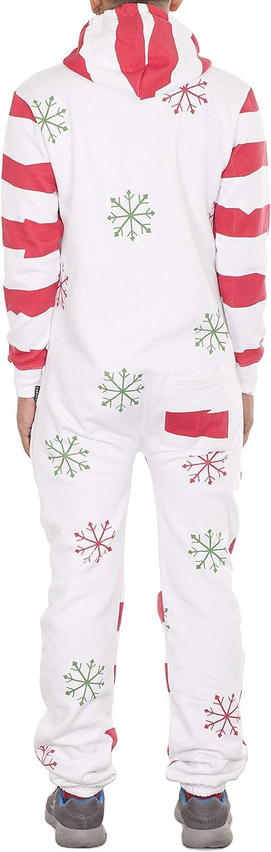 NOROZE Herren Unisex Elfe Onesie Strampelanzug Fleece Vlies Xmas Neuheit Weihnachten Jumpsuit Overall