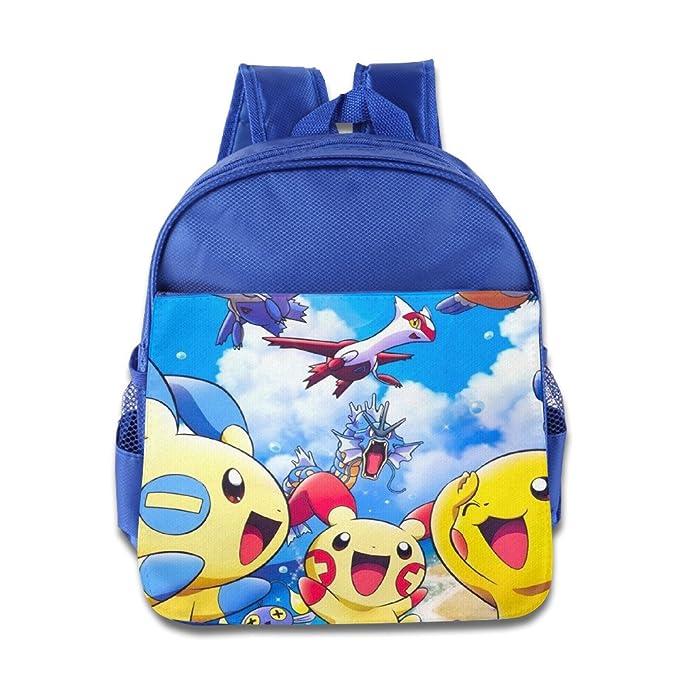 Sol luna de Pokemon Starters mochila escolar bolsa para las niñas, niños, niños, students-pink: Amazon.es: Hogar