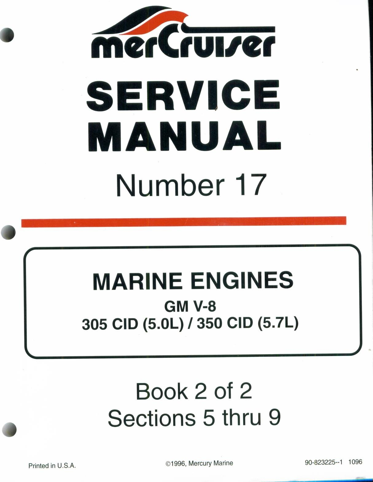 mercruiser service manual number 17 marine engines gm v 8 305 cid rh amazon com Mercruiser 5.7L MPI 5.7L Mercruiser Specifications