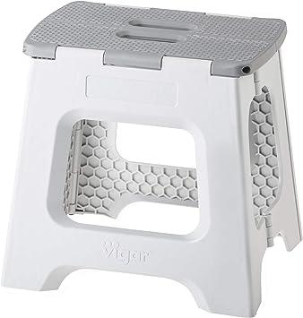 VIGAR Taburete Plegable Compact de Color Gris de 32 cm de ...