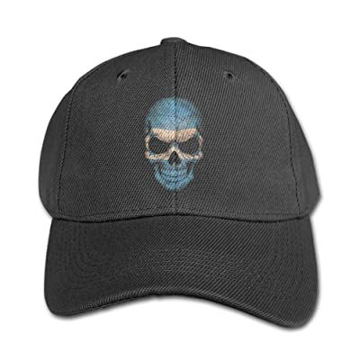 Honduras Flag Skull Children Design 100% Cotton Snapback Hip-Hop Hat Flat Peaked Baseball Cap Adjustable Cap Hat for Boy &Girl Navy