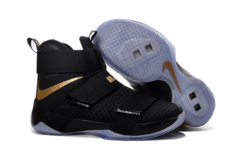 5da636dad560 ... discount pluralgirl mens lebron soldier 10 ep basketball shoes black  gold 8 amazon. aa4a1 61ac3