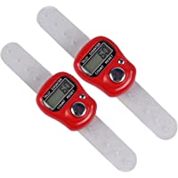 2pc 5 digit display Digital Hand LCD Electronic screen Held Tally Counter Finger Ring Handheld Clicker People Counter Meter Mini Multi Use-zeebly