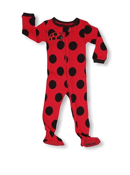Pijama De 1 Pieza para Chicas con Suelas Y Diseño De Lunares Mariquita 100% Algodón (6 Meses-5 Anos): Amazon.es: Ropa y accesorios
