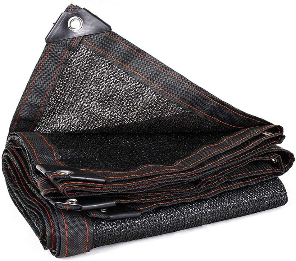 XUERUI シェルター 日よけネット黒シェード布グロメット付きエッジ付き植物網用サンネットサンメッシュUV耐性ネット スポーツ アウトドア (Color : 黒, Size : 6X10M) 黒 6X10M