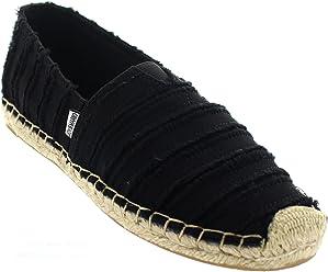 9df66fc624 Joy   Mario Women s Italian Espadrille Loafer Flats Shoes 01045W 01047W ( Black