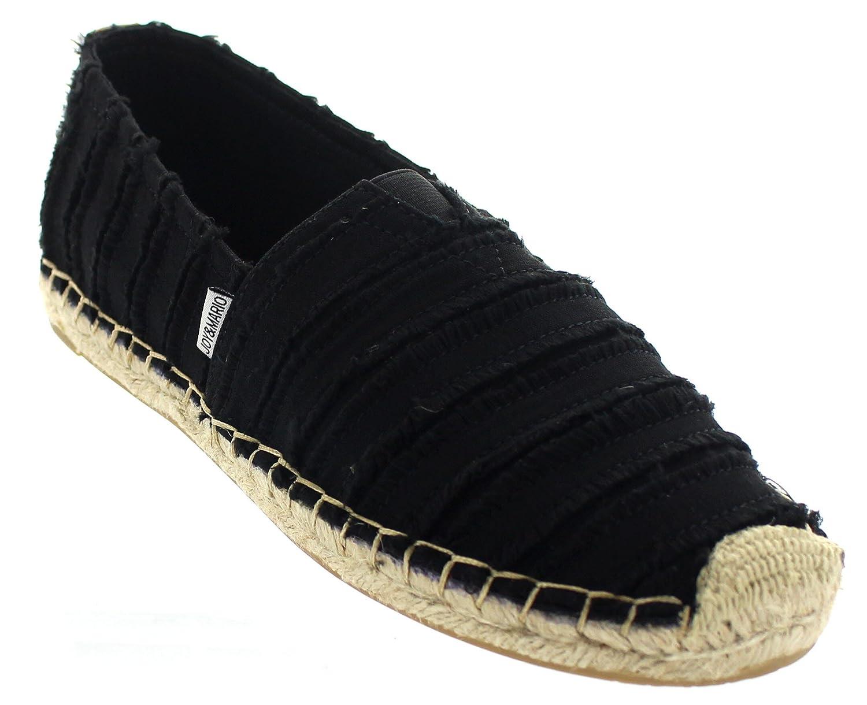 dae0ddc47dc Joy & Mario Women's Italian Espadrille Loafer Flats Shoes 01045W/01047W  (Black, Black/Tan in Size: 6-11)